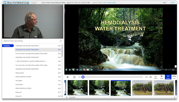 HEMODIALYSIS WATER TREATMENT - Panopto Video Presentation Software