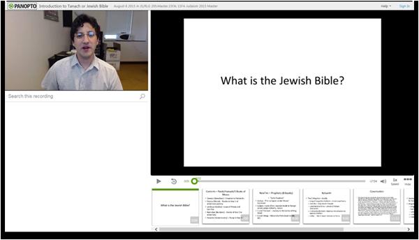 Einführung in den Tanach oder die jüdische Bibel - Panopto Video Presentation Software
