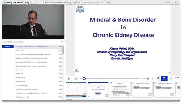 Mineral and Bone Disorder in Chronic Kidney Disease - Panopto Video Platform