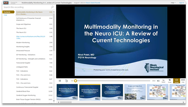 Multimodality Monitoring in the Neuro ICU - Panopto Video Presentation Software