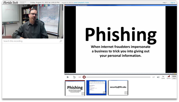 Phishing - Panopto Video Platform