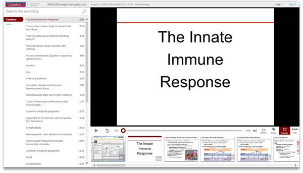 The Innate Immune Response - Panopto Video Presentation Software