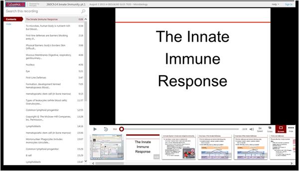 Die angeborene Immunreaktion - Panopto Video Presentation Software
