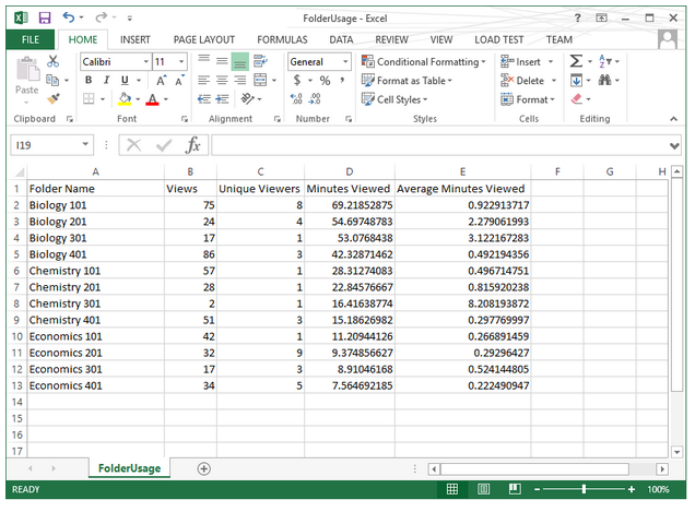 Video Analytics - Excel Download - Panopto Video Platform