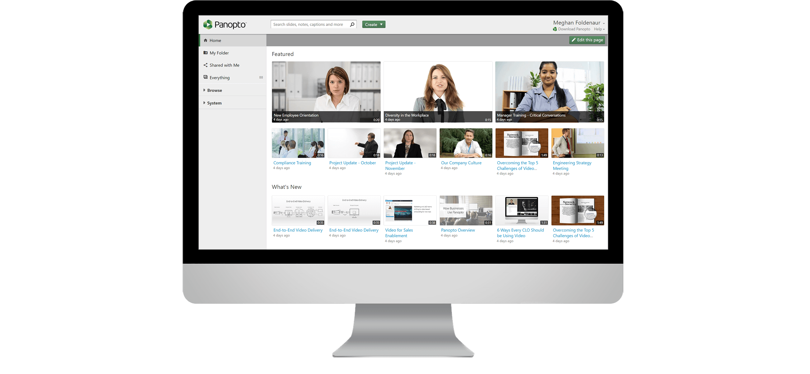Video Content Management System - Panopto Video Platform