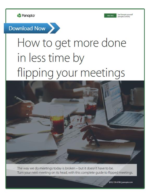 Changez le format de votre réunion - Plate-forme vidéo Panopto