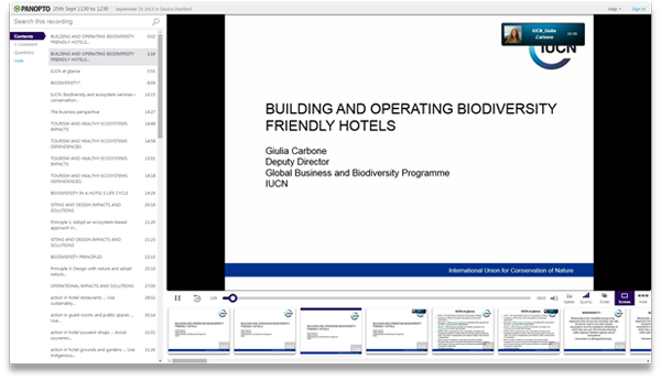 Biodiversity Friendly Hotels - Panopto Video Platform