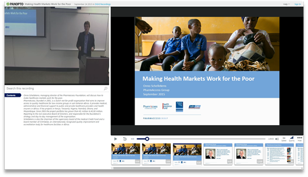 Making Health Markets Work for the Poor - Panopto Video Platform
