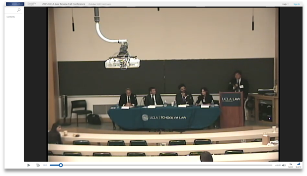 2015 UCLA Law Review Fall Conference - Panopto Video Presentation Software