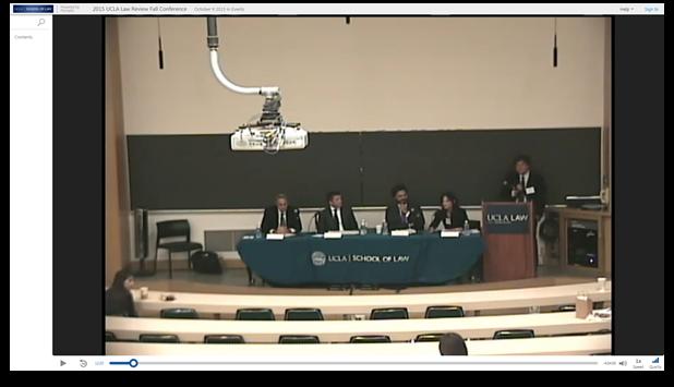 Conférence d'automne 2015 de la UCLA Law Review - Logiciel de présentation vidéo Panopto