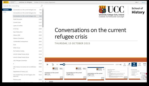 Gespräche zur aktuellen Flüchtlingskrise - Panopto Video Presentation Software