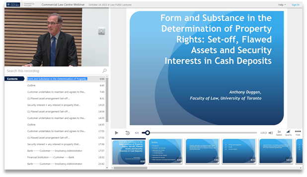 Form and Substance in Property Rights - Panopto Video Presentation Software