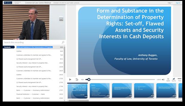 Form und Substanz im Eigentumsrecht - Panopto Video-Präsentationssoftware