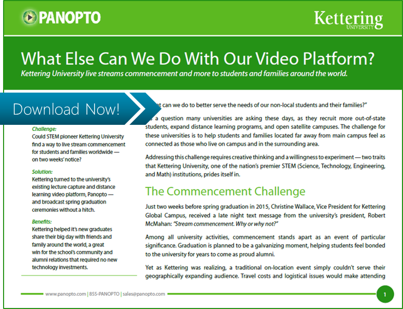 ICON CTA - Kettering - Panopto Video Platform Case Study