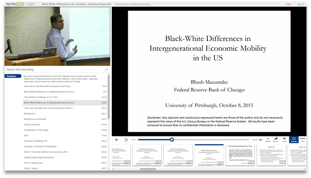 Intergenerational Economic Mobility in the US - Panopto Video Presentation Software