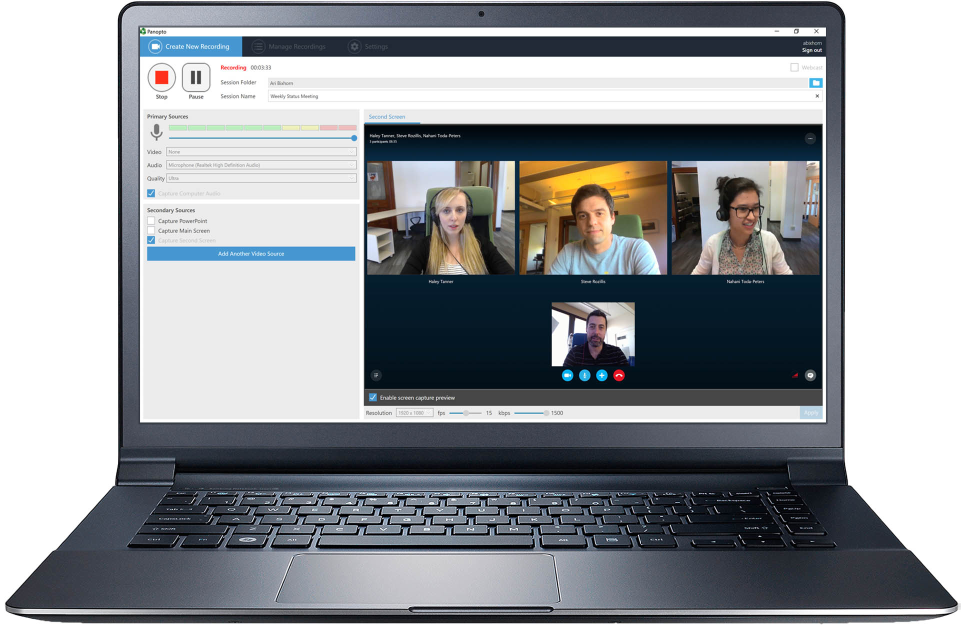 Manage Amp Search Inside Your Video Conference Recordings With Panopto