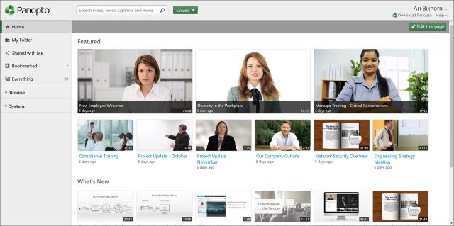 VCMS Portal - Panopto Video Platform
