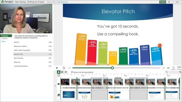 HTML5 Editor - Panopto Video Management Platform