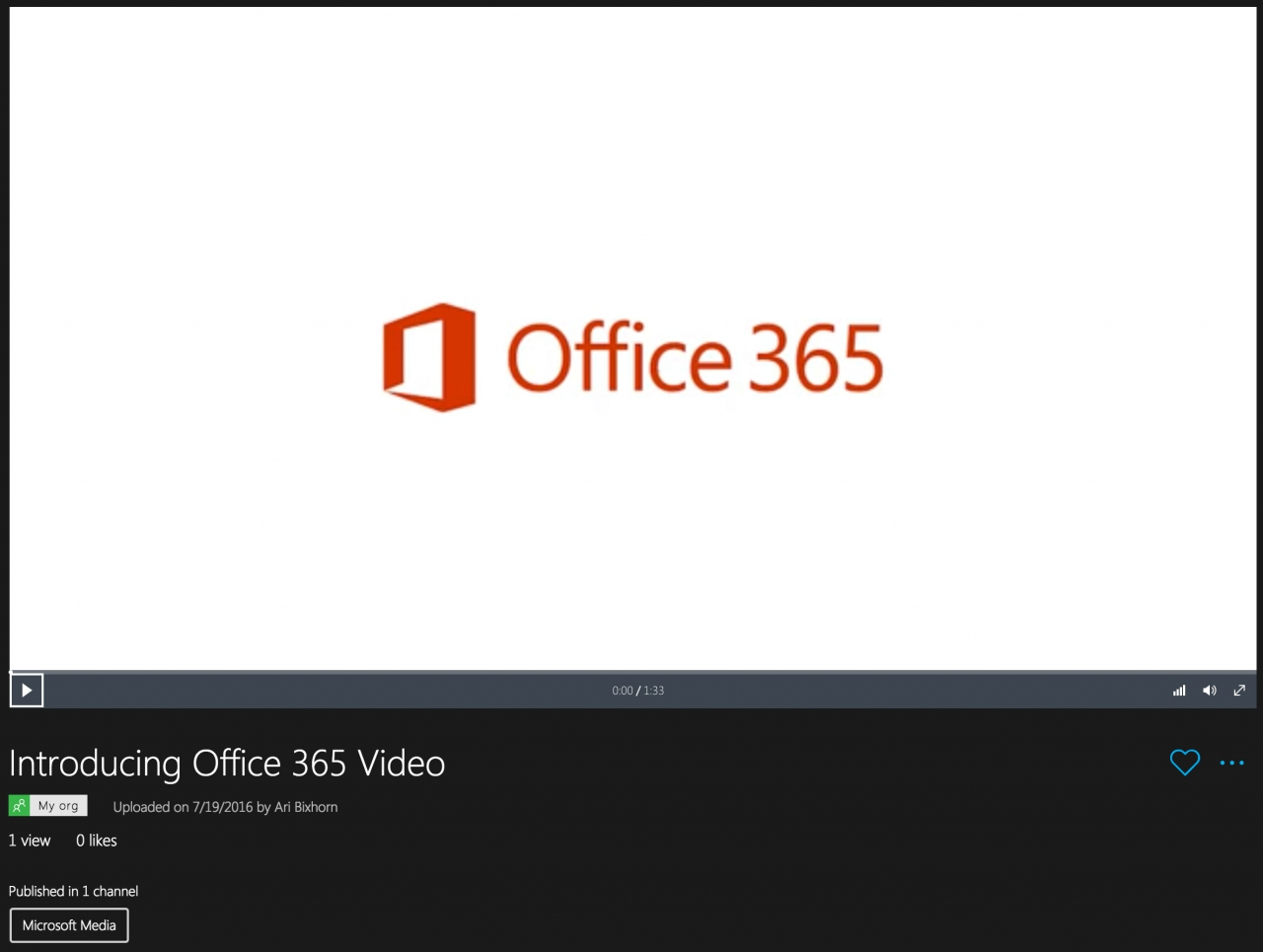 Microsoft Stream - Video Player2