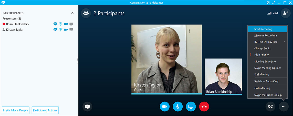 Upload and Share Skype Meetings and Skype Calls With Panopto