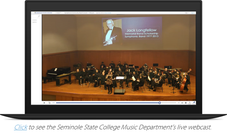 Seminole State's live streamed music department event