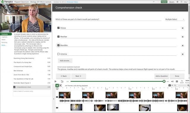 Panopto Video Platform Version 5.3 - Interactive Quizzing