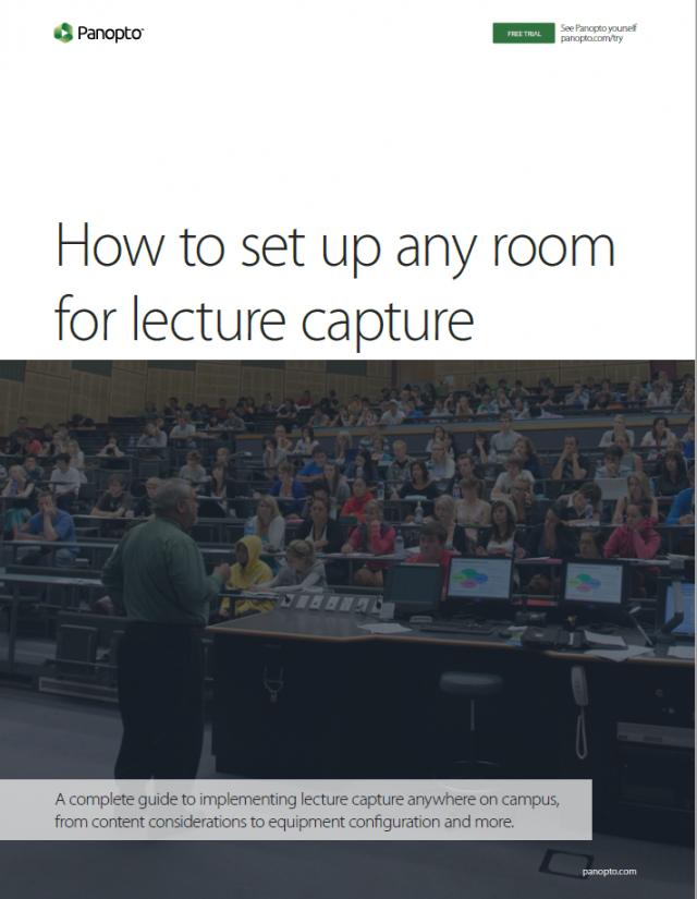Comment configurer n'importe quelle salle du campus pour la capture de conférences