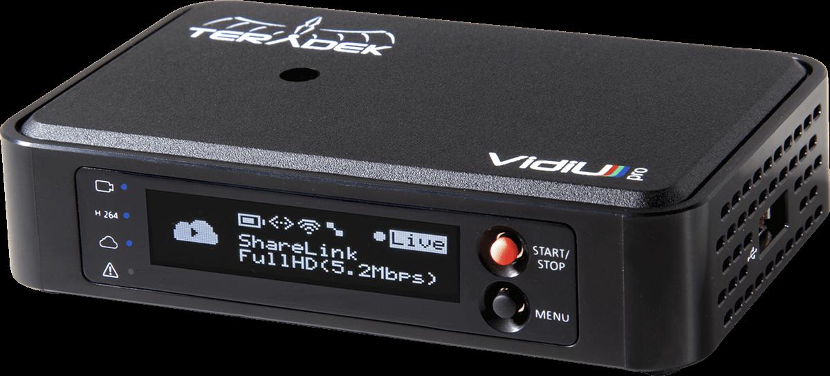 Teradek's Vidiu series of portable encoders can transmit wirelessly from cameras to Panopto.
