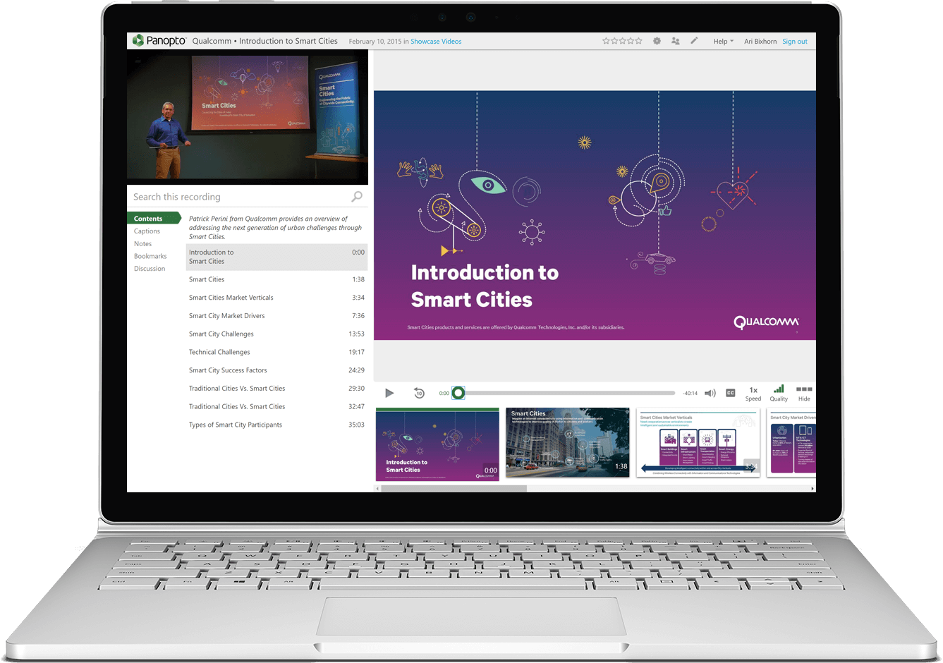 Qualcomm's employee training and onboarding videos created in Panopto