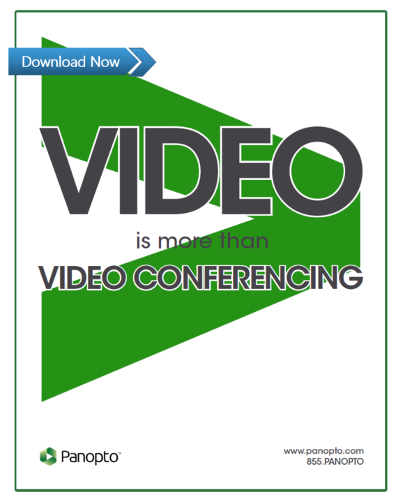 Video is more than web conferencing