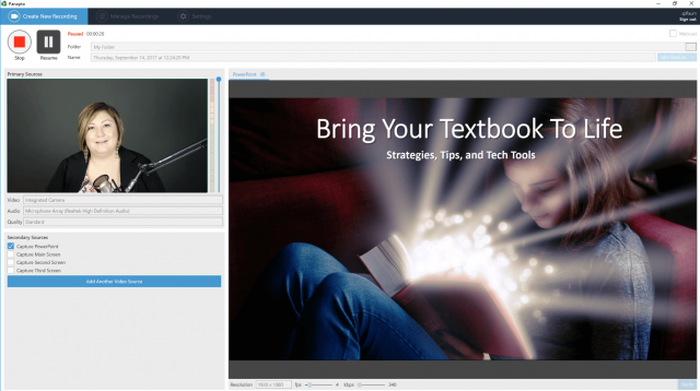 How to record powerpoint slides with Panopto
