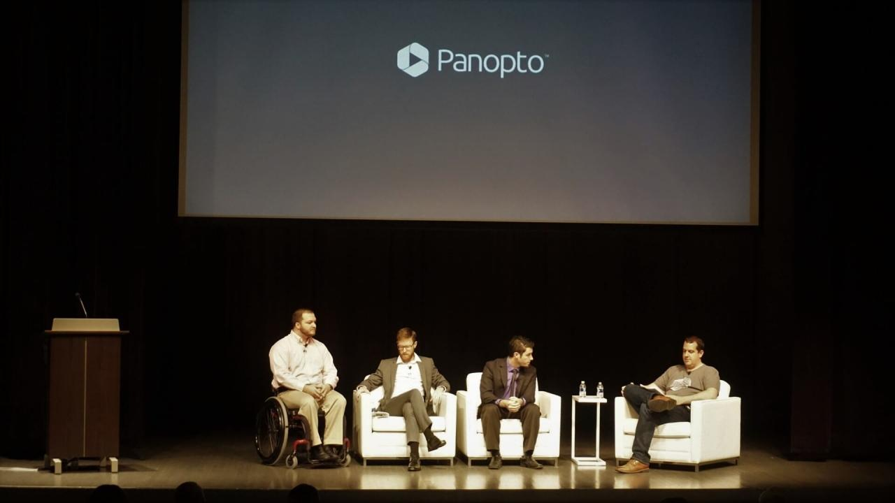 Panel de la conférence des utilisateurs de Panopto - Accessibilité des vidéos sur les campus universitaires