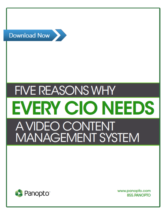Why Every CIO Needs a Video Content Management System