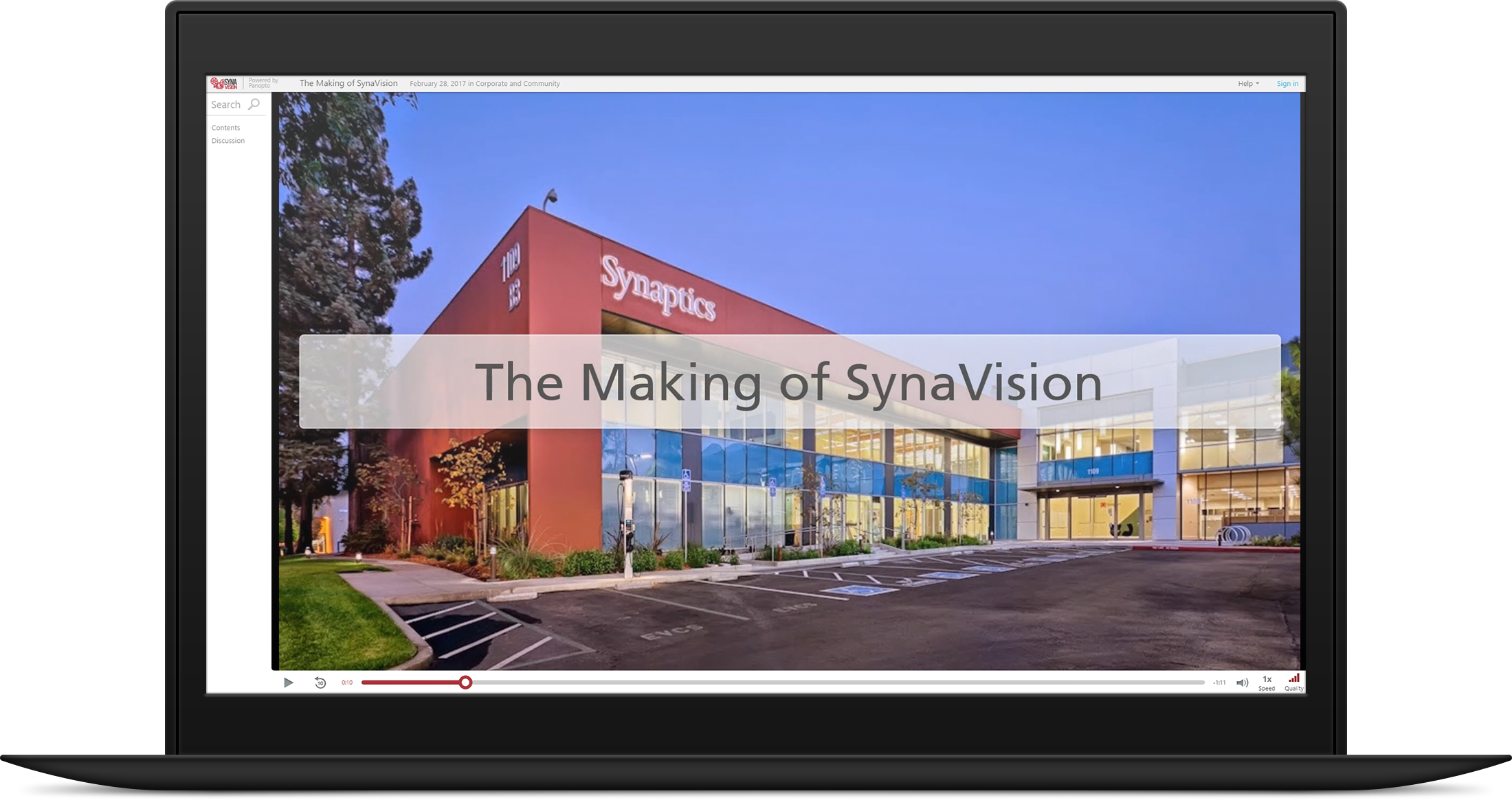 Synaptics created SynaVision with Panopto to more effectively manage proprietary knowledge