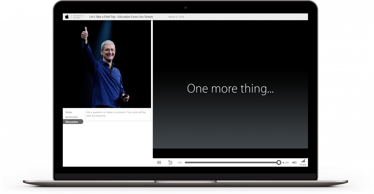 Hey Apple  Let us live stream your education event  Love