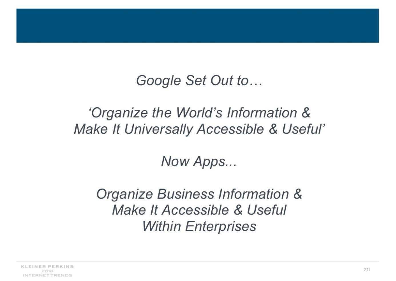 Tendances Internet 2018 - Organiser les informations commerciales pour les rendre accessibles et utiles.