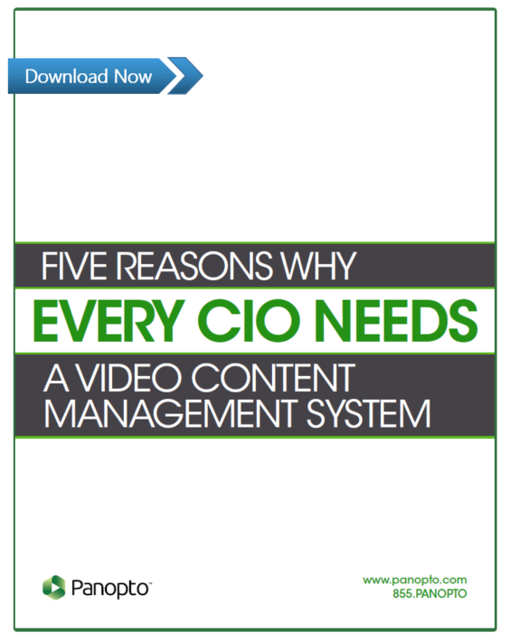 Why Every CIO Needs A Video Content Managment System