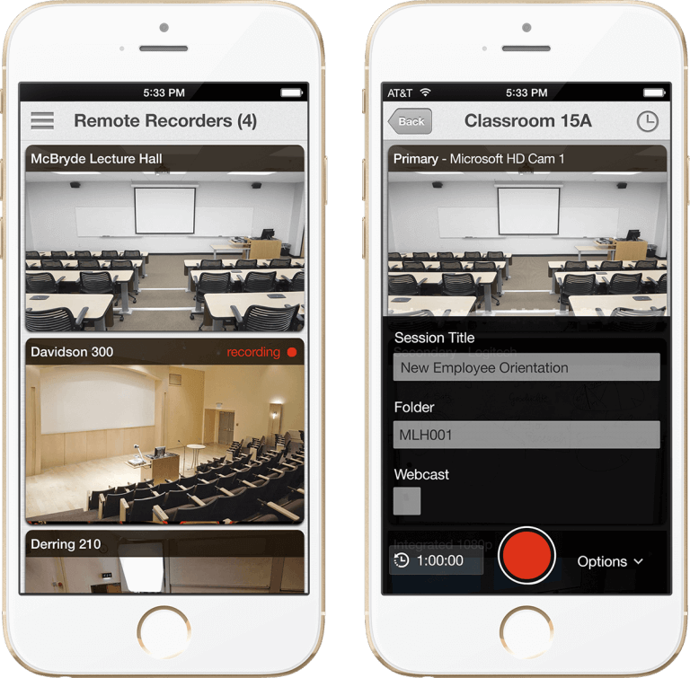 Panopto's remote and mobile recorders integrate with Plenom's BusyLight