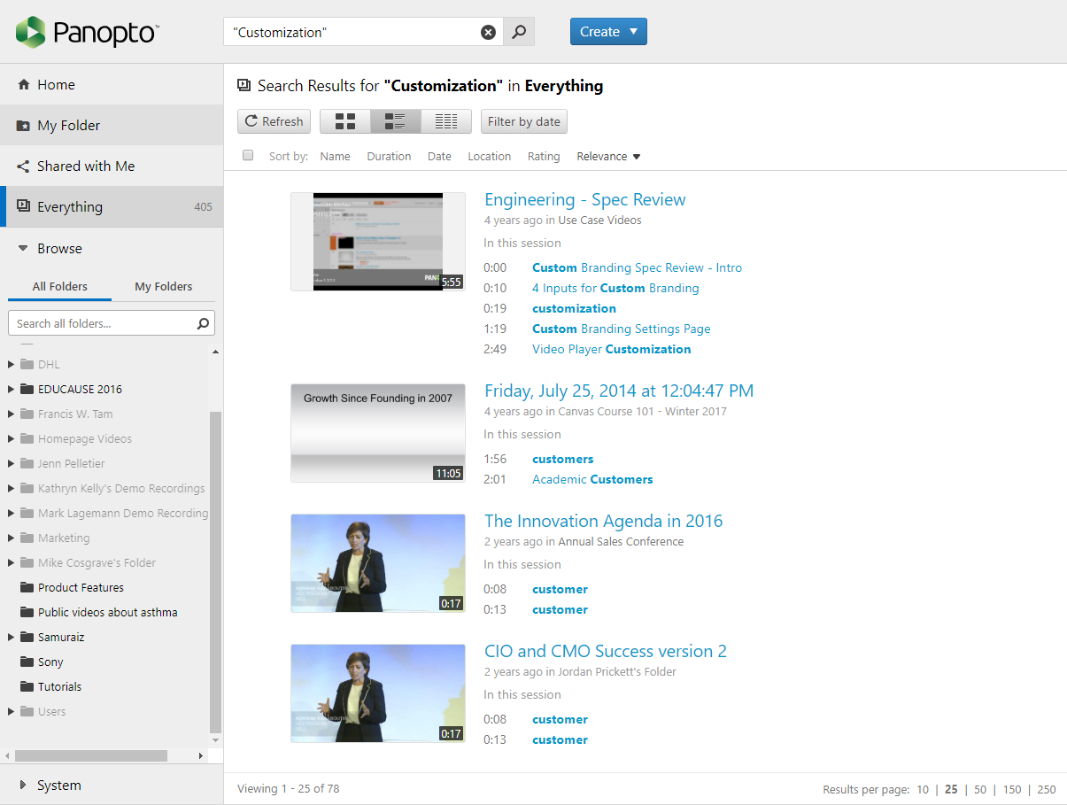 Search spoken words in Zoom recordings with Panopto