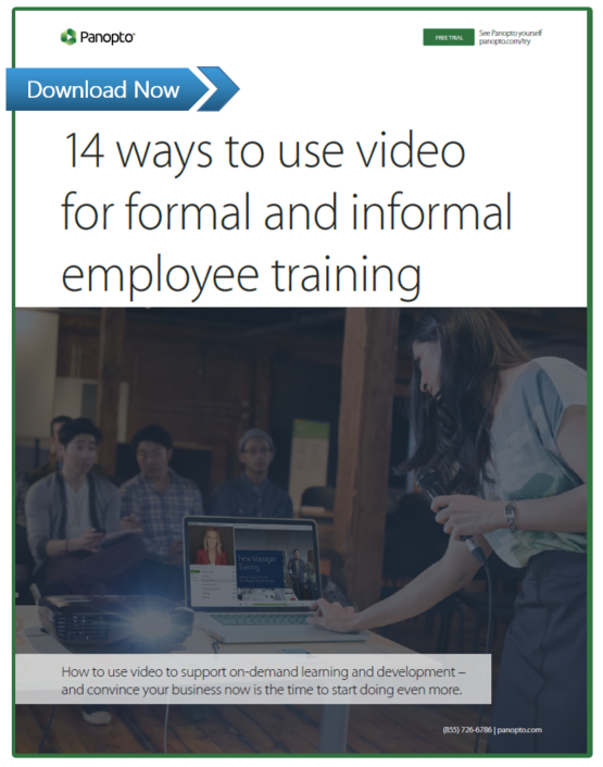 Beginner's Guide To Video Training- Panopto