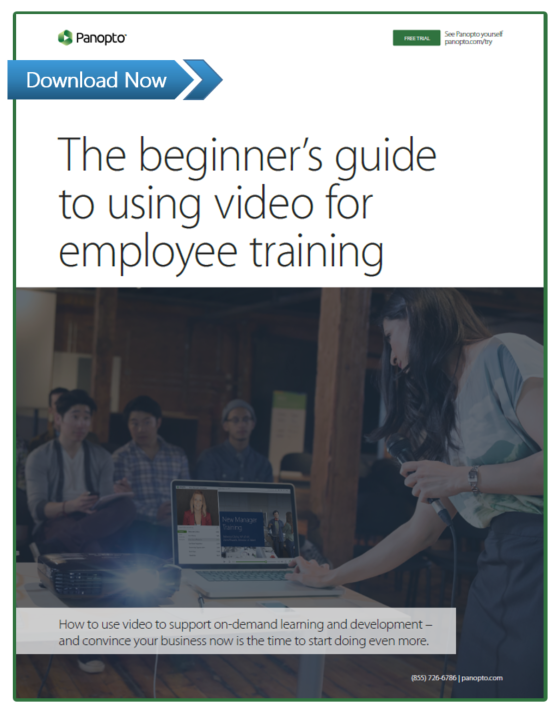 Beginner's Guide To Using Video For Employee Training