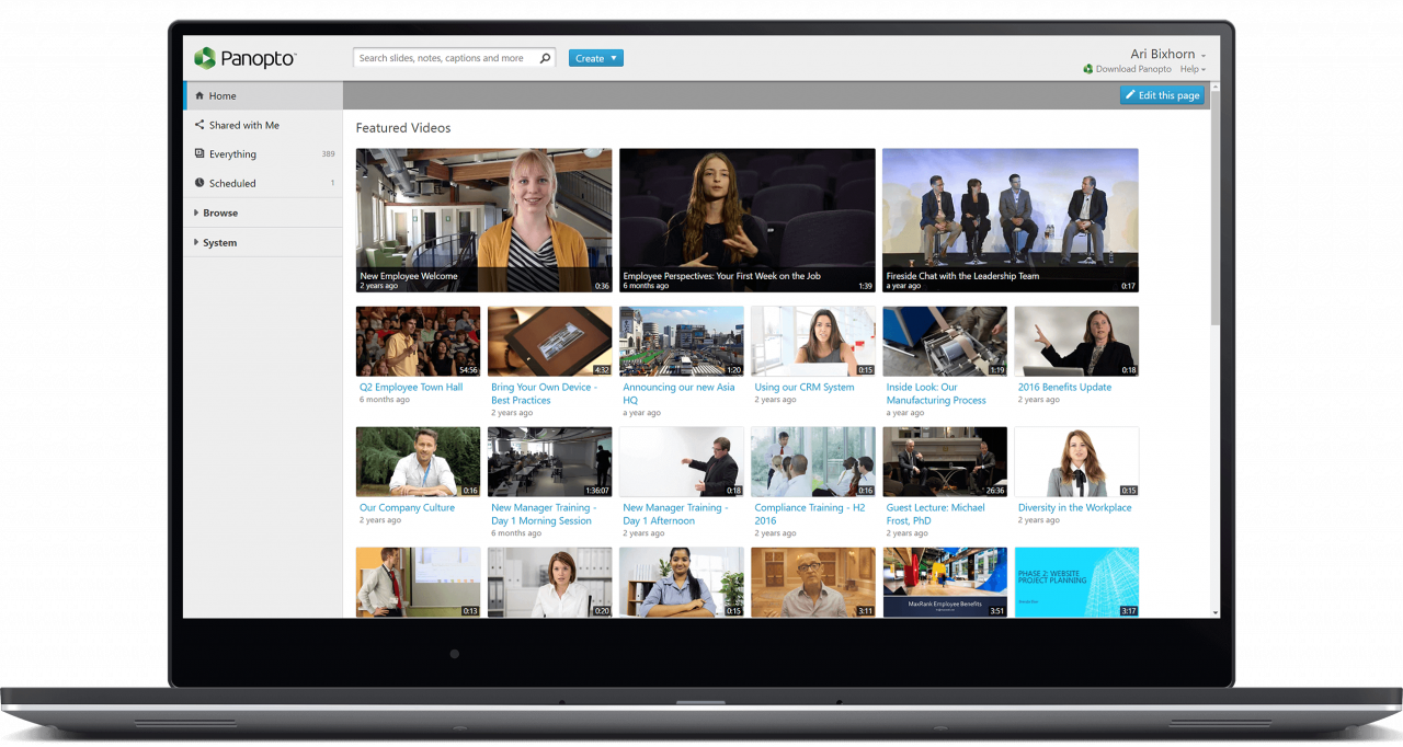 Create an internal learning video platform with Panopto