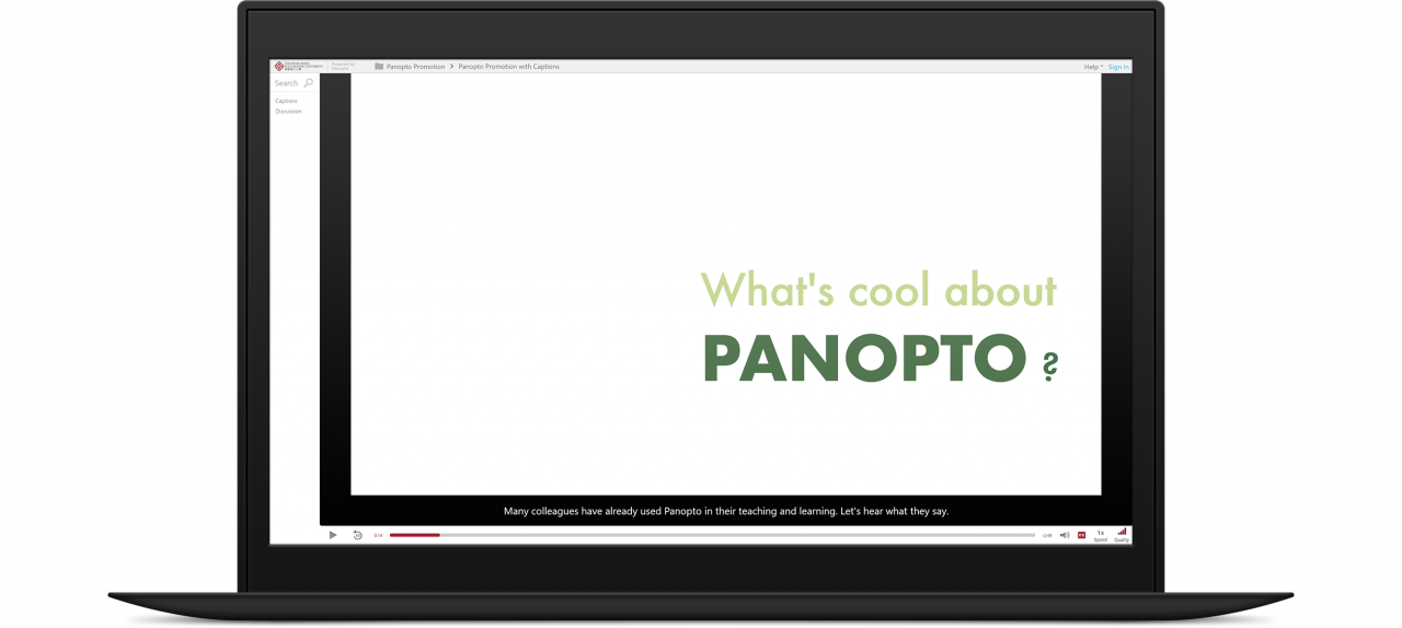 Panopto at Hong Kong Polytechnic created a searchable video library