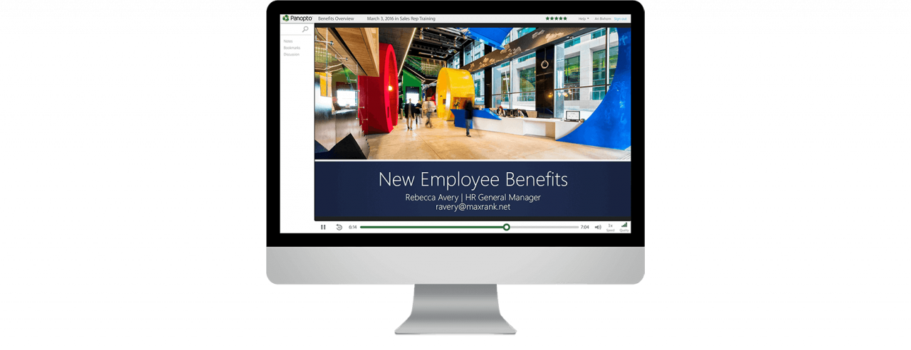 Video recording software for employee onboarding