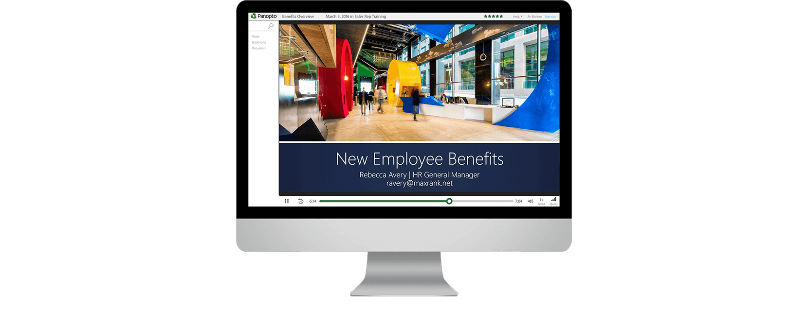 Video recording software for employee oboarding