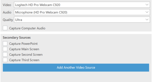 Video podcast creation can be integrated with other visual and audio content sources
