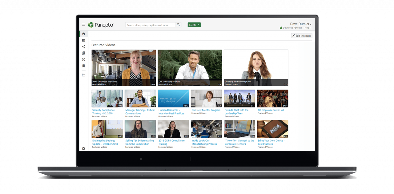 Panopto's video content management system is secure and easy to use