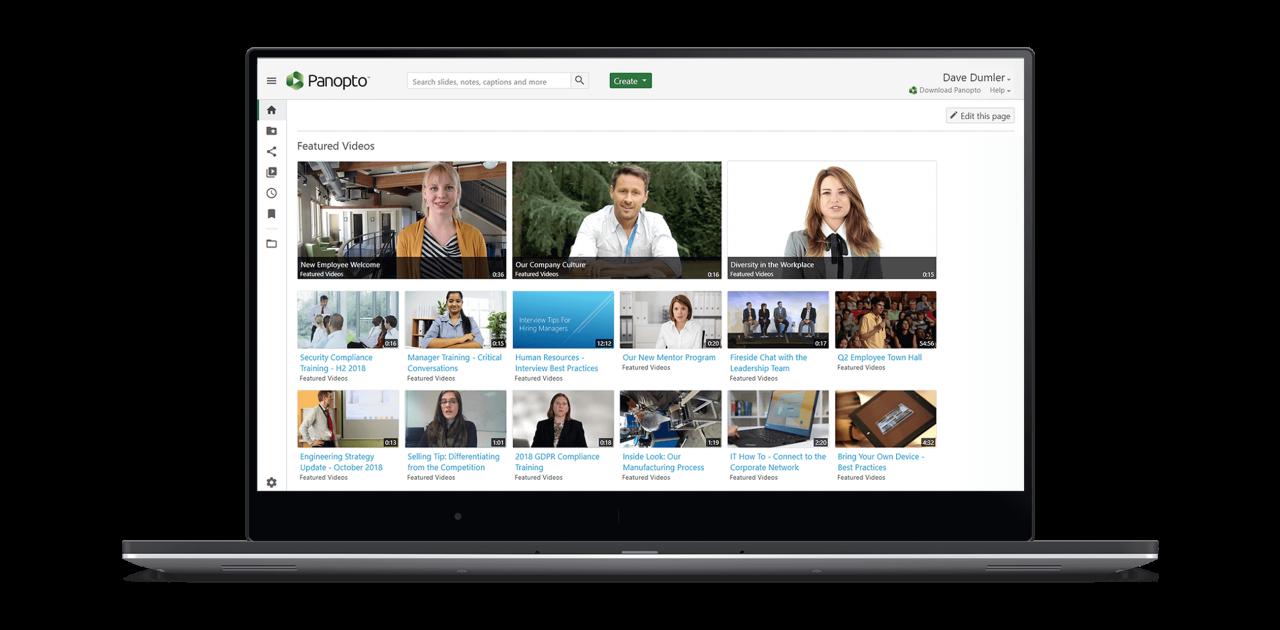 Le système de gestion de contenu vidéo de Panopto est sécurisé et facile à utiliser