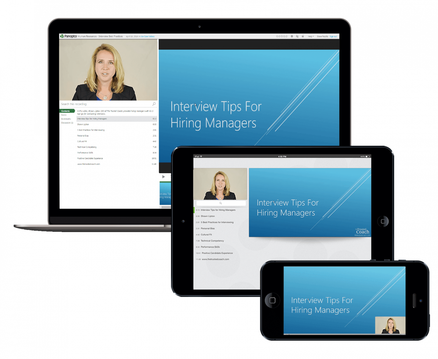 Make employee training mobile with Panopto's video training software