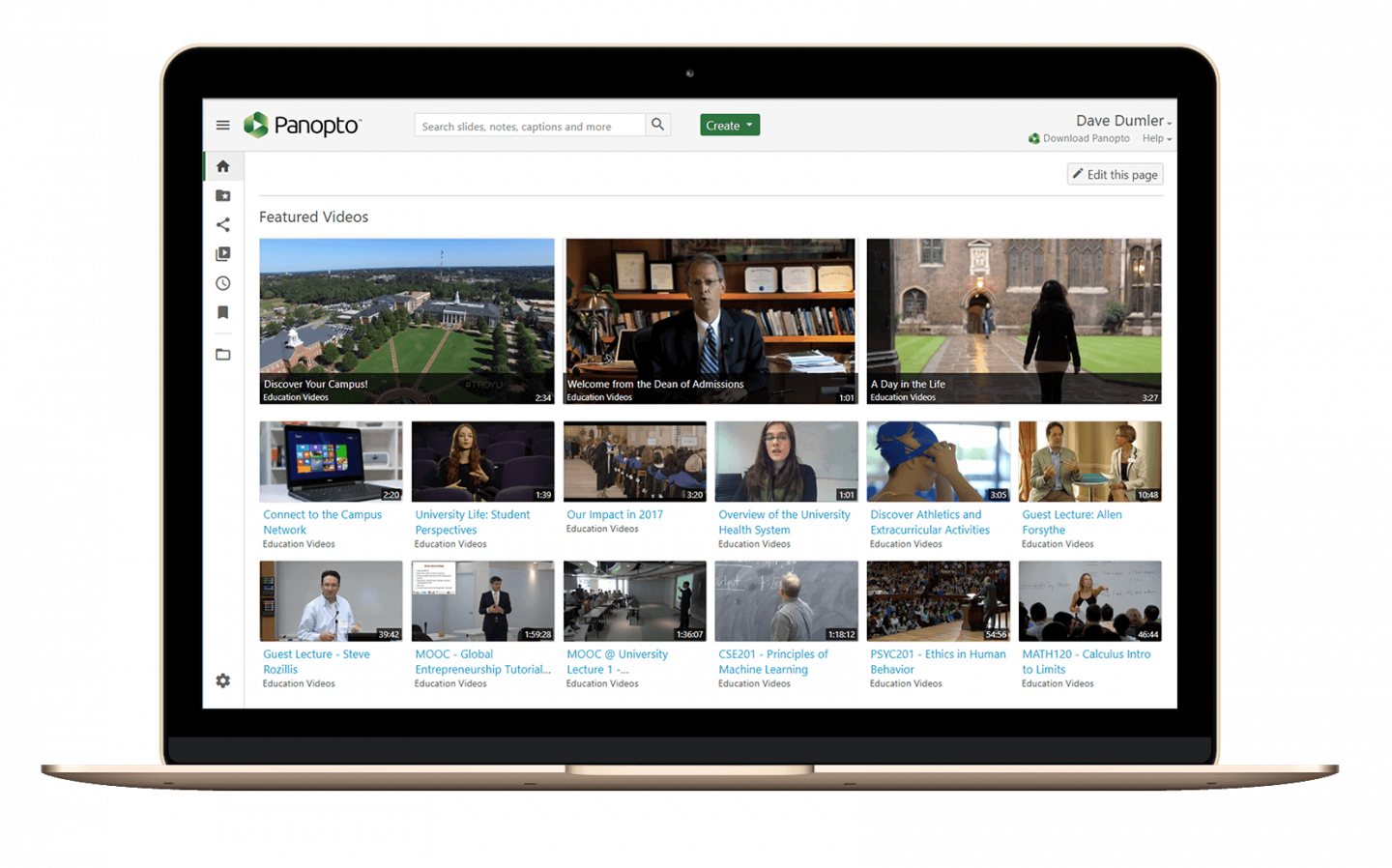 Panopto's video accessibility standards enable users to navigate the video dashboard with just the TAB key